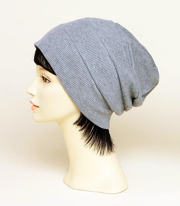 皱褶针织帽(Gray)