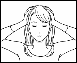 Loosen up the entire scalp
